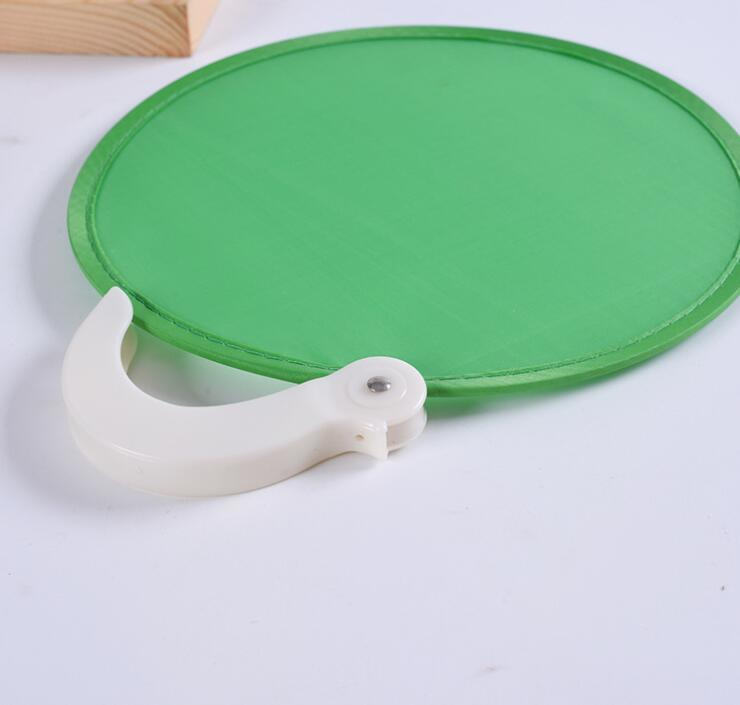Promotional Portable Frisbee Foldable Fan With Handle