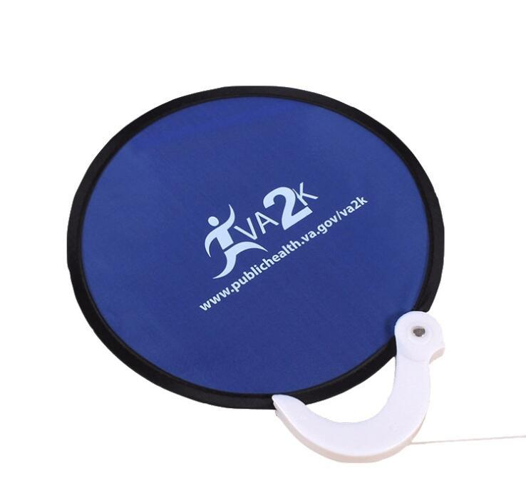 Custom Foldable Frisbee Fan With Handle Promo Frisbees