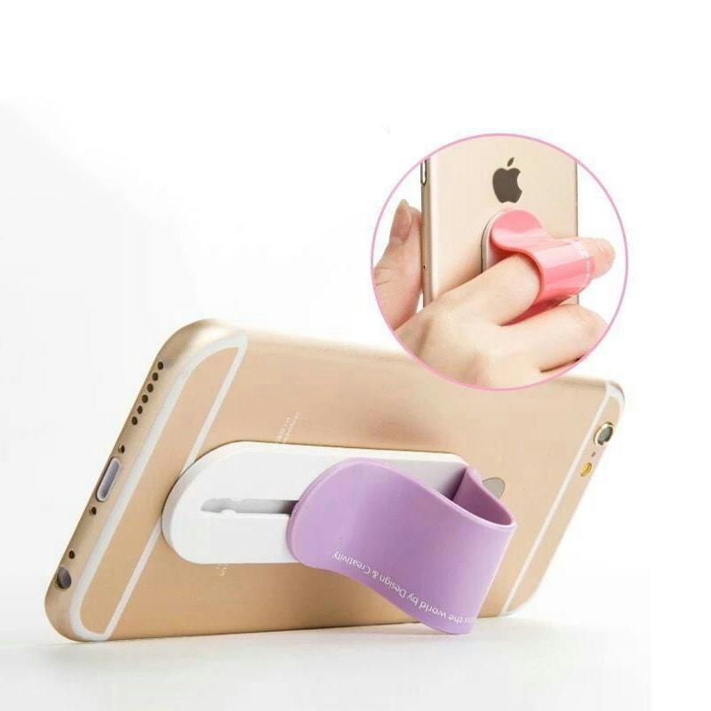 Custom Multi Band Phone Holder One Hand Finger Grip with Logo Printed