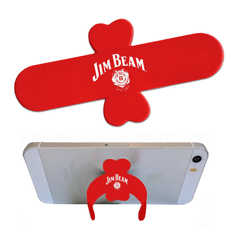 Custom Logo One Touch Mobile Silicone Snap Stand