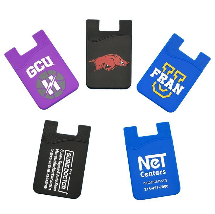 Custom Promotional Silicone Credit Card Mobile Phone Holder with Logo