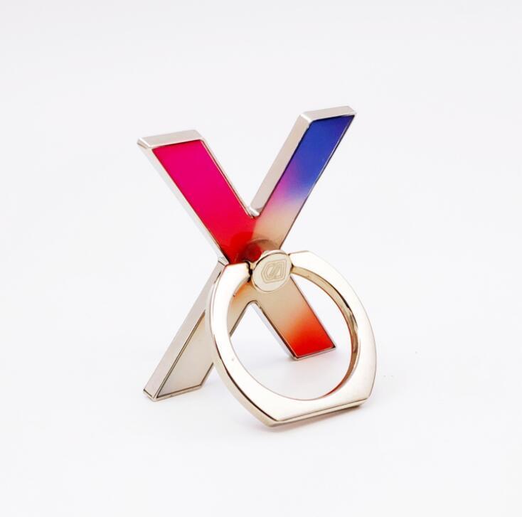 Custom Logo Shape  Metal Phone Finger Ring Holder for Promotion