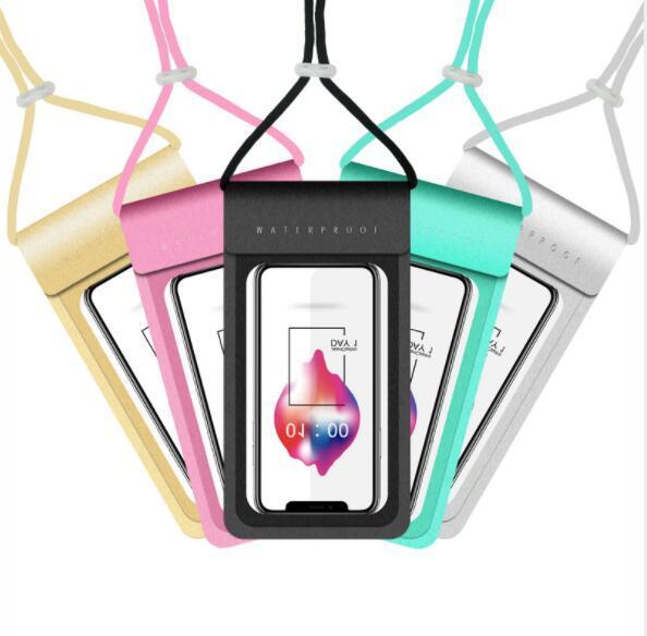 Custom Logo Waterproof Smartphone Pouches With Lanyard