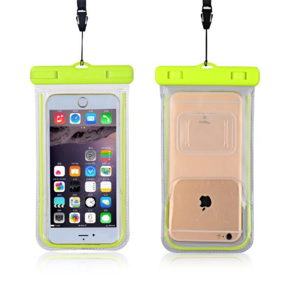 Luminous Glow Waterproof Underwater Mobile Phone Accessories Pouch Bag