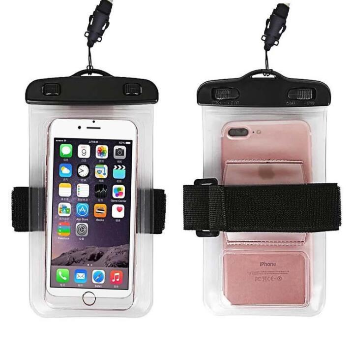 Wholesale Waterproof PVC Phone Pouch Transparent Dry Bag with Armband