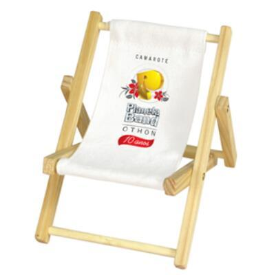 Custom Wholesale Wooden Beach Chair Shape Mobile Phone Holder Phone Stand