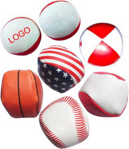 Supply PVC Leather 4 Panels Hacky Sack Kick bag with Custom Logo