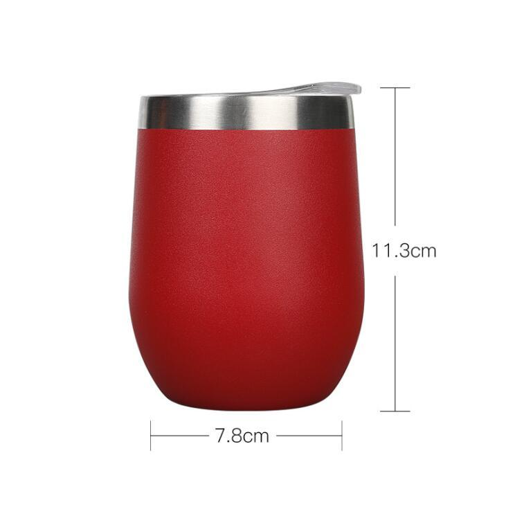 Custom Logo Stainless Steel Wine Tumbler With Lid