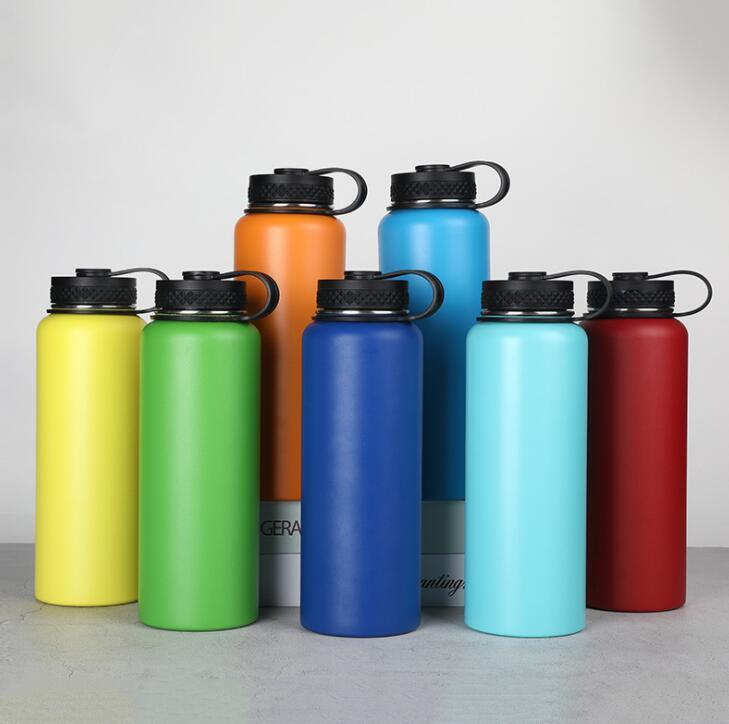 Custom 40oz Double Wall Stainless Steel Water Bottles for Outdoor