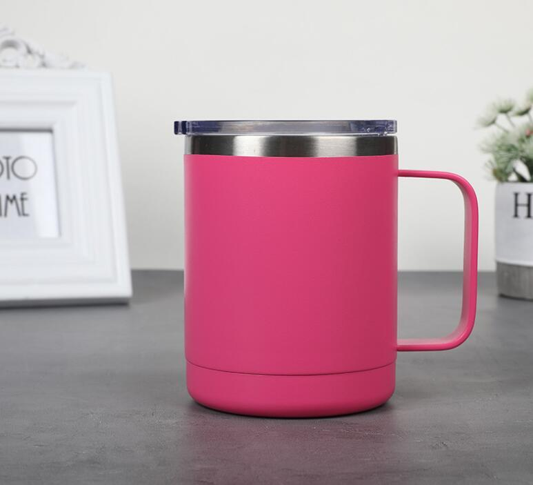 Factory Supply 10oz Stainless Steel Travel Mug with Handle