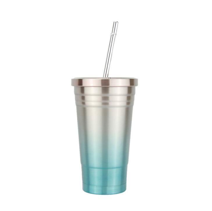 Custom Promotional 500ML Reusable Tumblers with Straws