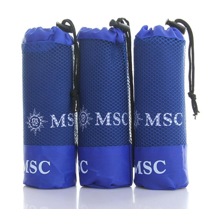 Supply Quick Dry Microfibre Gym Sports Travel Towel With Logo Printed