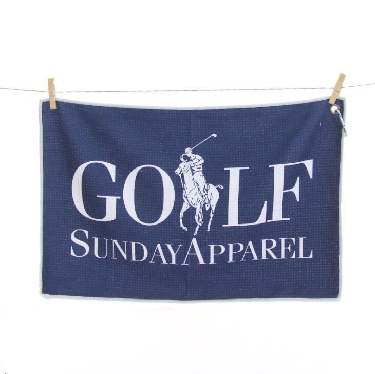 Custom Logo Softextile Microfiber Golf Towel for Promotion