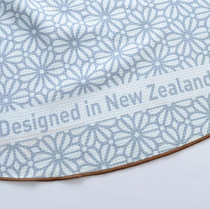 Round Printed Letter Beach Towel Microfiber Terry Bath Towel