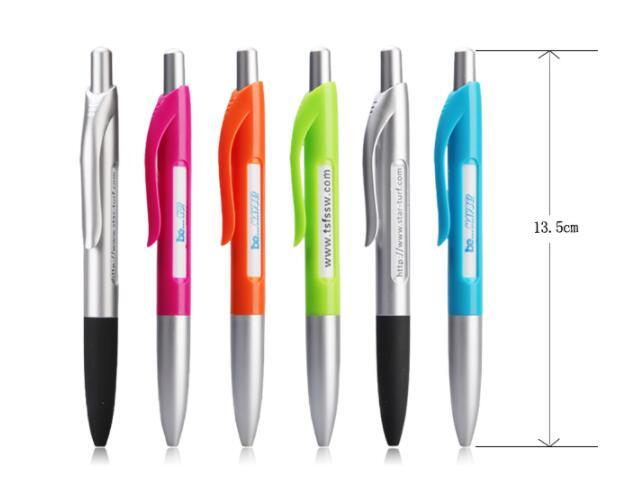 Custom Printing advertising Pen Plastic Twist Pen with 6 Banner Change