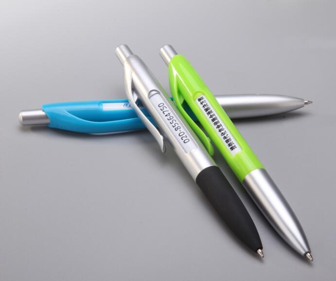 Custom Printing advertising Pen Plastic Twist Pen with 6 Banner Change