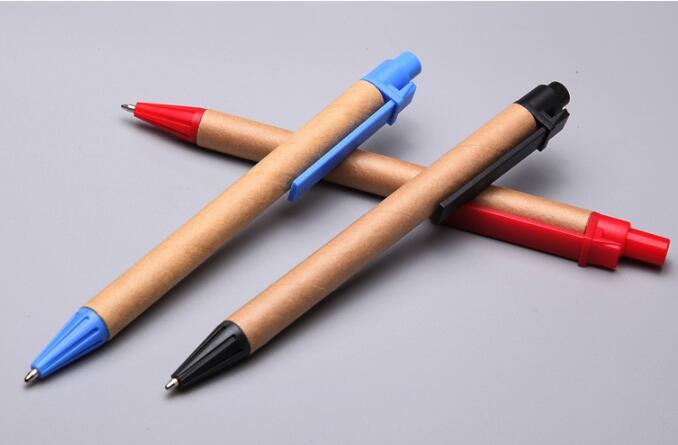 Stationery Recycle Plastic Ball Point Pen for Promotional