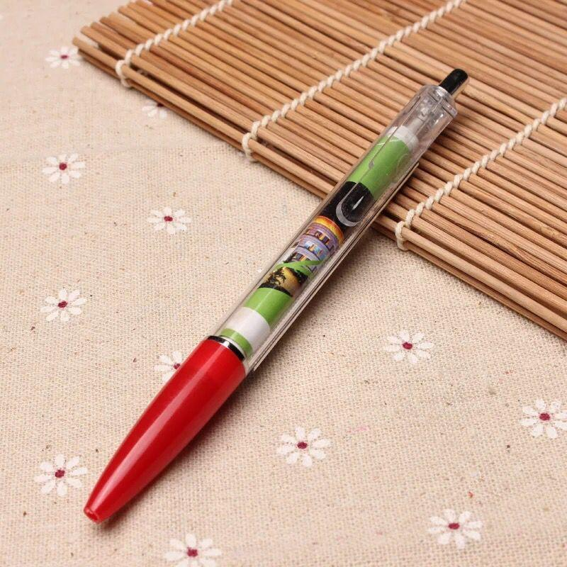 Custom Transparent Promotional Ball Pen Pull out Banner Pen for Gifts