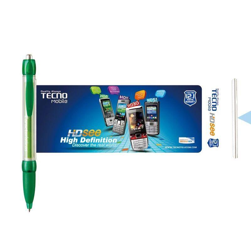 Stationery Factory Manufacture Popular Promotional Ball Point Pens with Banner Custom
