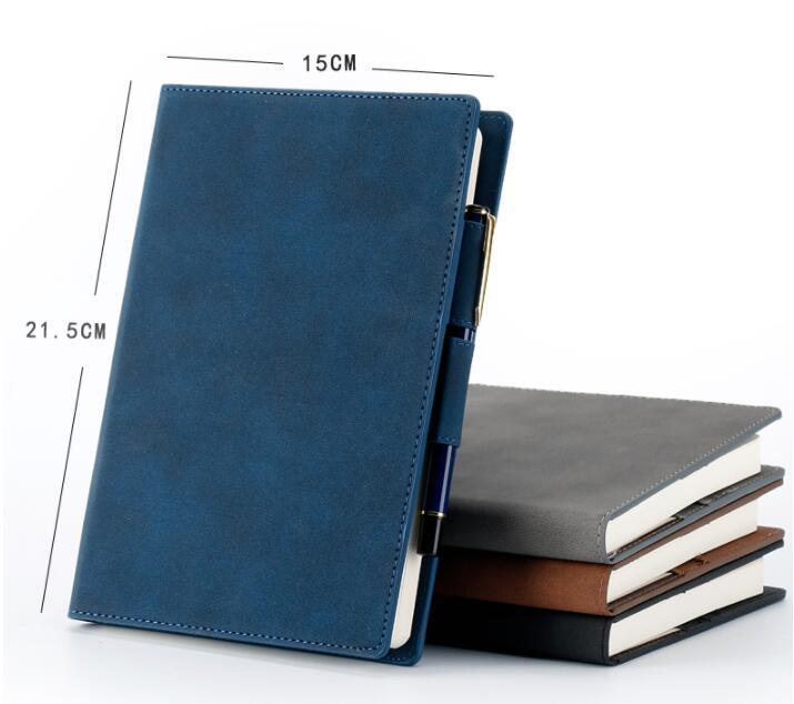 Custom Multi-functional PVC leather business notebook with card holder