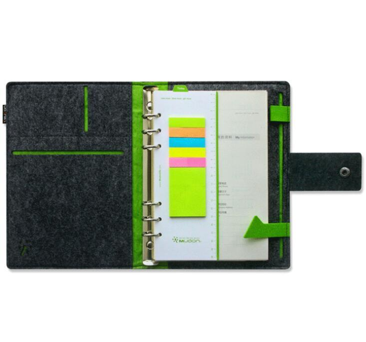 Wholesale Felt cover Business notebook with sticky notes