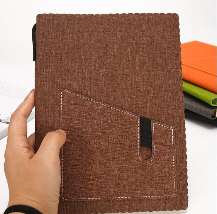 Contrast Leather Bound Diary with Phone Pocket