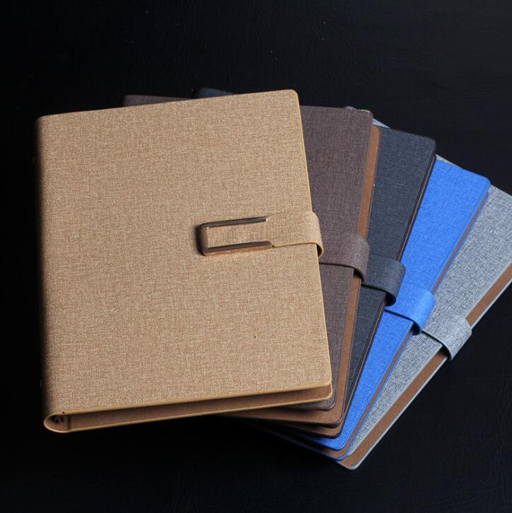 Hardcover Refillable Meeting Notebook with Magnetic Clasp