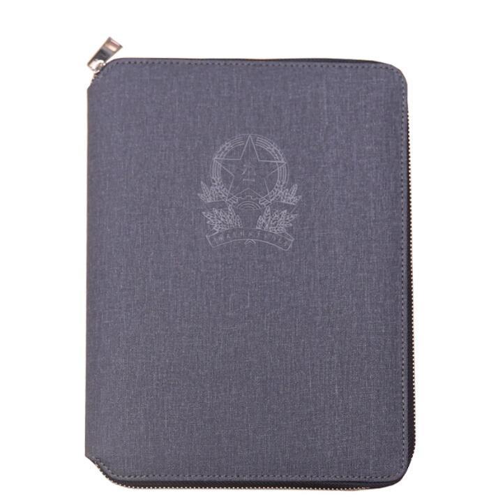 Zipper A4 A5 PU Leather Planner Organizer Agenda Notebook