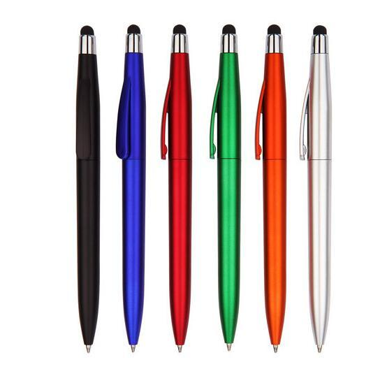 Custom Logo twist Plastic stylus ball pen for Promotional gifts