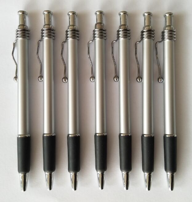 Custom Promotional Click Ball Point Pen with Metal Clip for Stationery