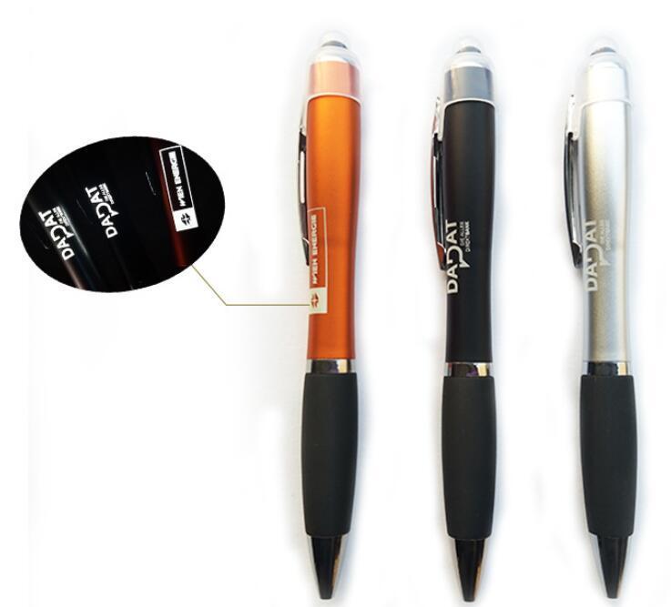 Plastic LED Logo Light Stylus Touch ball Pen for Promotion