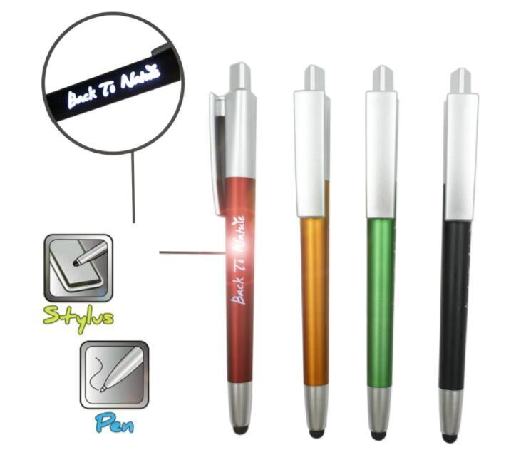 Custom Logo Light LED Touch Screen Pen for Advertising
