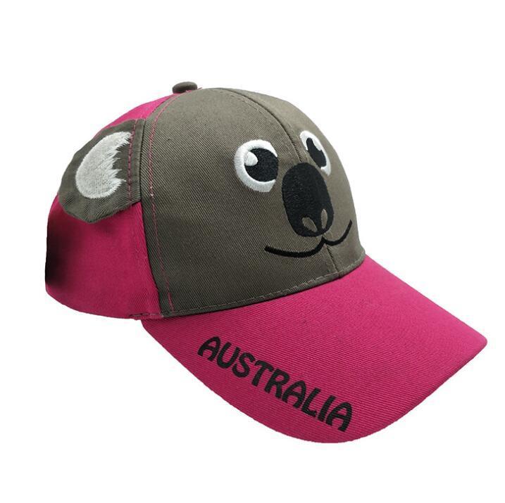 Custom 3D Animal Koala Fashion Kids Baseball Hat Cap Children Leisure Cap