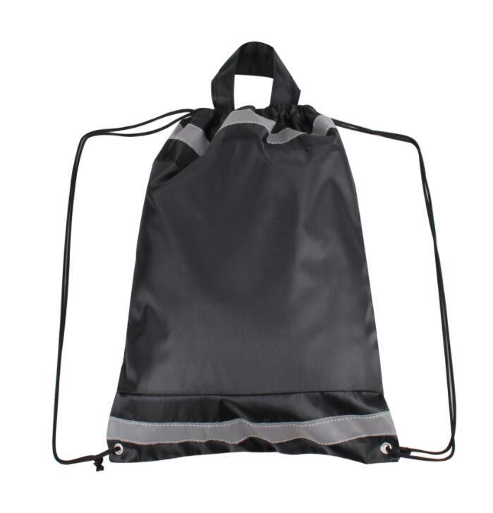 Reflective Drawstring Backpack Bag, School Bag, Reflective Safety String Bag for Promotion