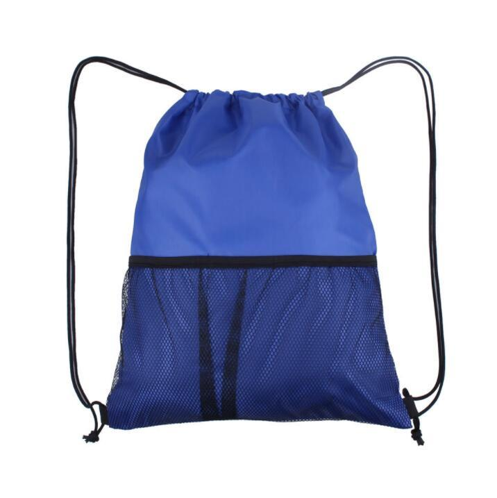 Wholesale Mesh Drawstring Sports Folding Outdoor Back Pack Bag