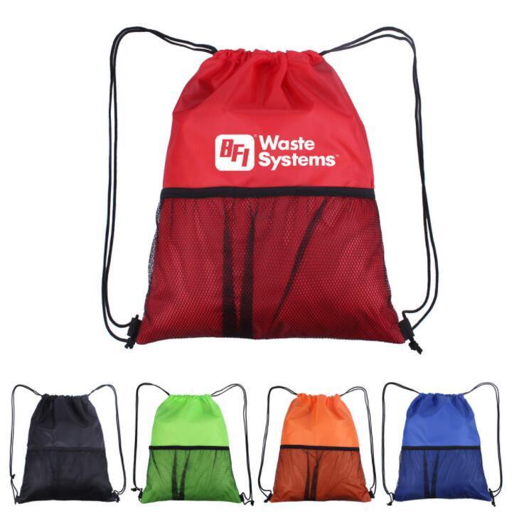 Wholesale Mesh Drawstring Sports Folding Outdoor Back Pack Bag