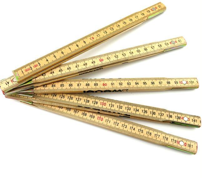 Custom Sweden Style Folding Wooden Ruler 2 Meter for Promotional Gifts