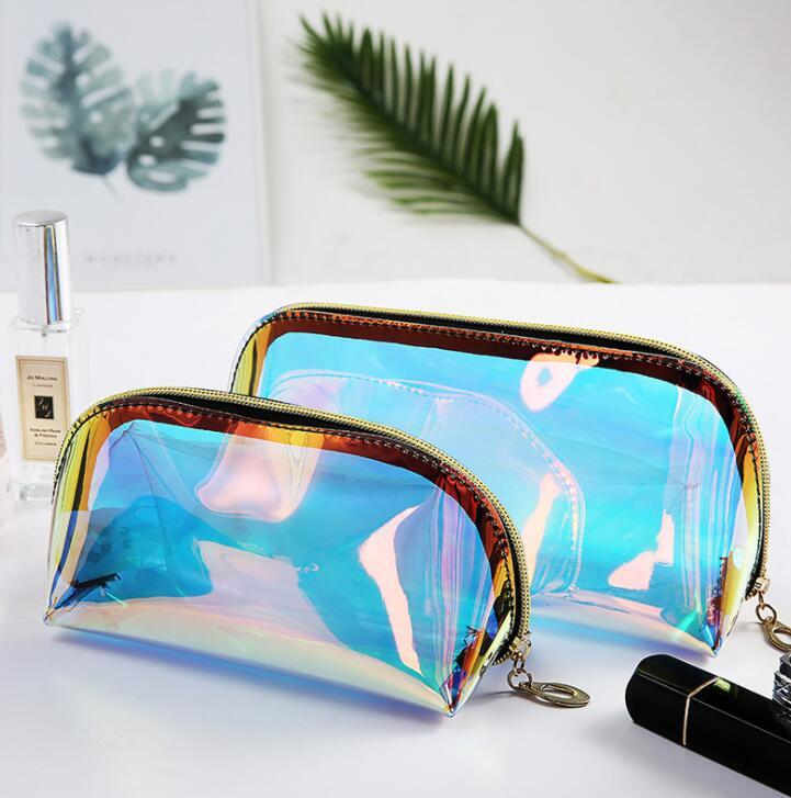 Customized Portable Transparent PVC Cosmetic Bag Toiletry Wash Bag for Travel