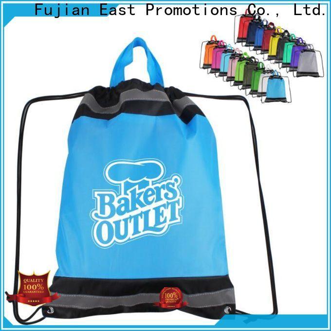 East Promotions drawstring pouch manufacturer bulk production