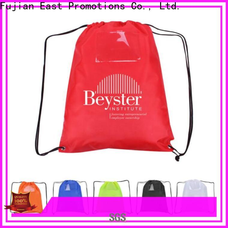 East Promotions practical waterproof drawstring bag suppliers for trip