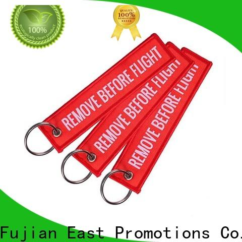 East Promotions custom embroidered keychain best manufacturer for gift