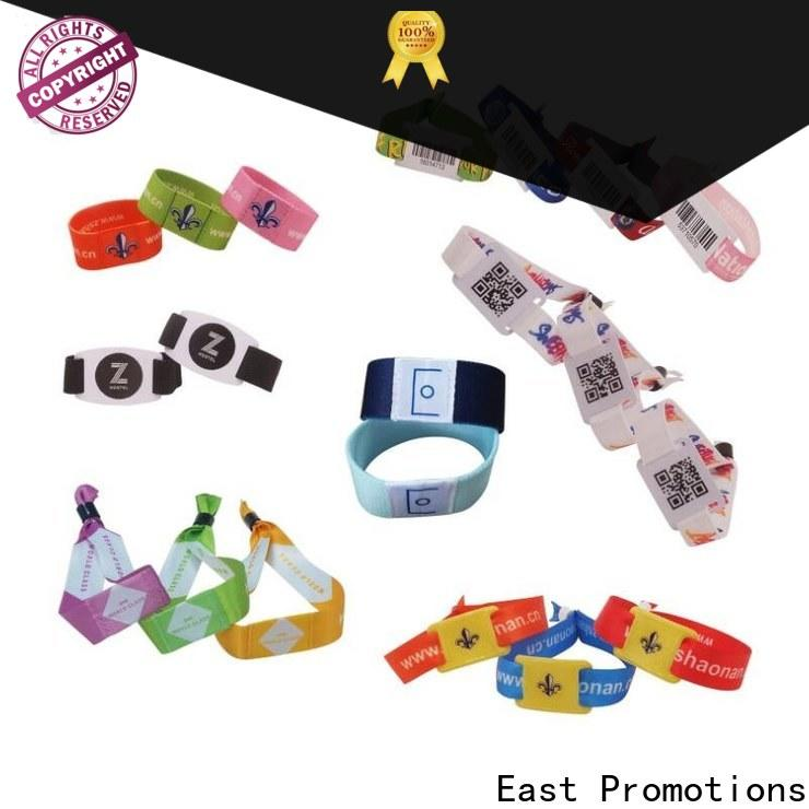 East Promotions best price fabric festival wristbands supply for concert