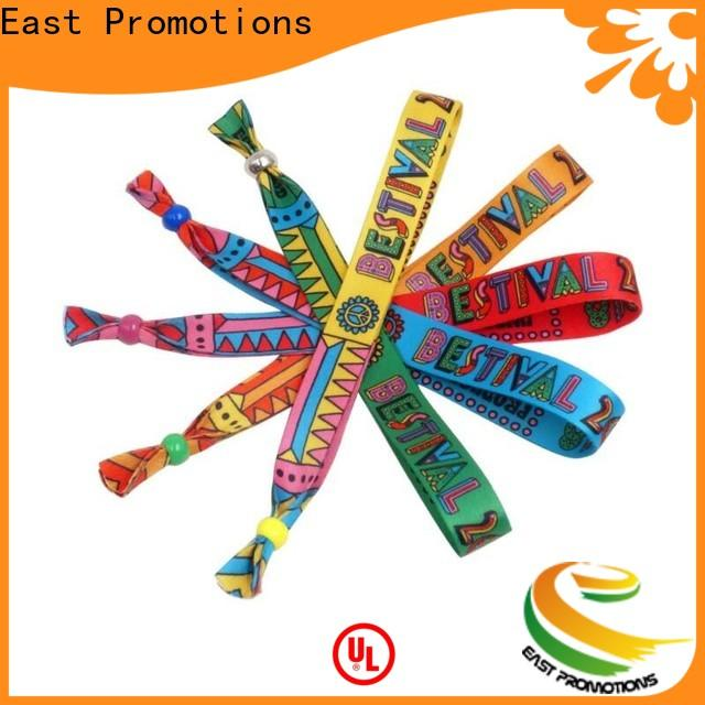 East Promotions cloth wristbands factory direct supply for concert