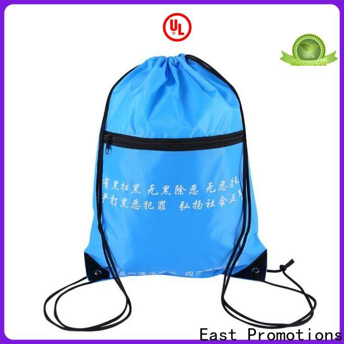 East Promotions top quality durable drawstring backpack manufacturer for trip
