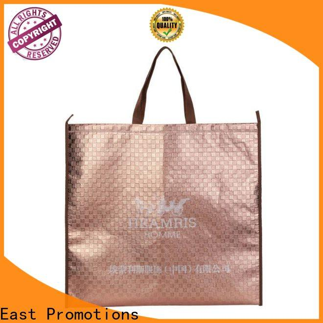 East Promotions custom reusable bags factory direct supply bulk production