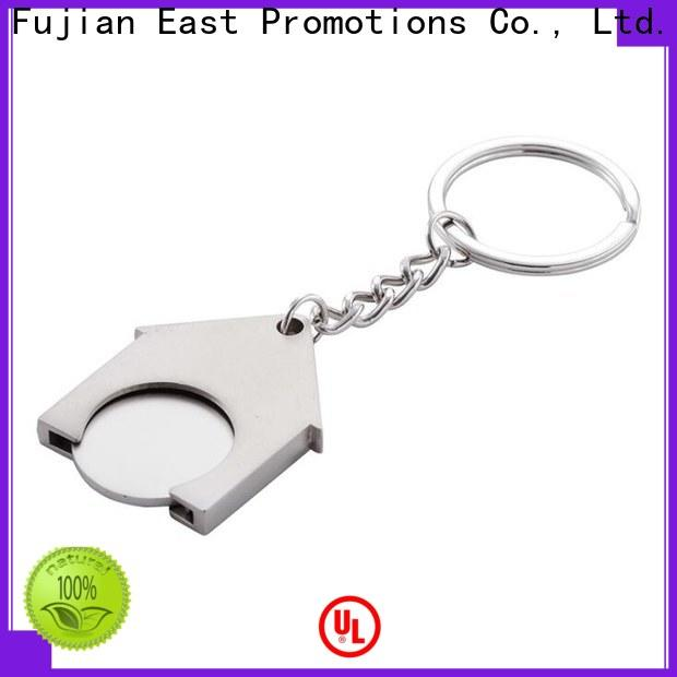 East Promotions custom shape metal keychains with good price for gift