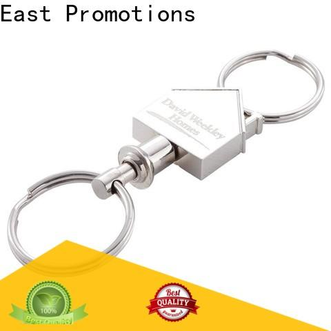 East Promotions metal logo keychain best manufacturer for sale