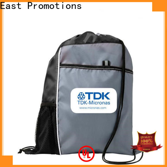 East Promotions low-cost nylon drawstring backpack supply bulk buy