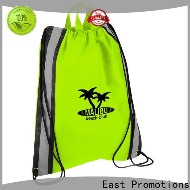 East Promotions athletic drawstring bag supply for traveling