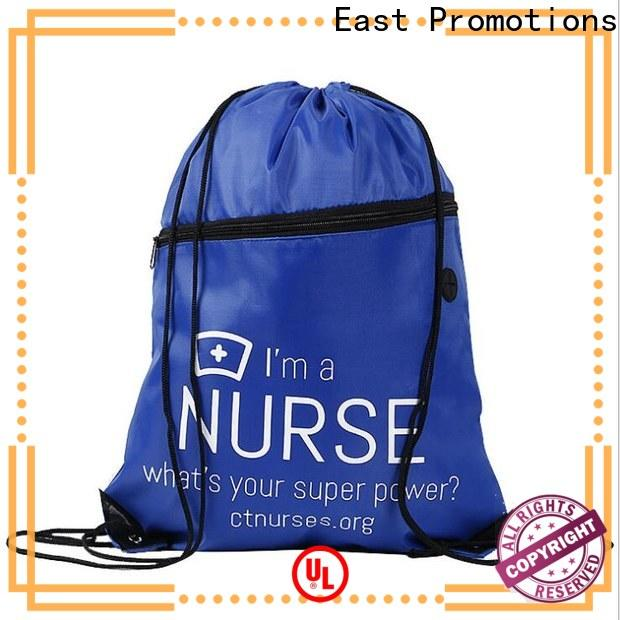 East Promotions low-cost custom drawstring bags with good price bulk production